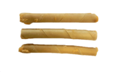 Rawhide stick filled with salmon